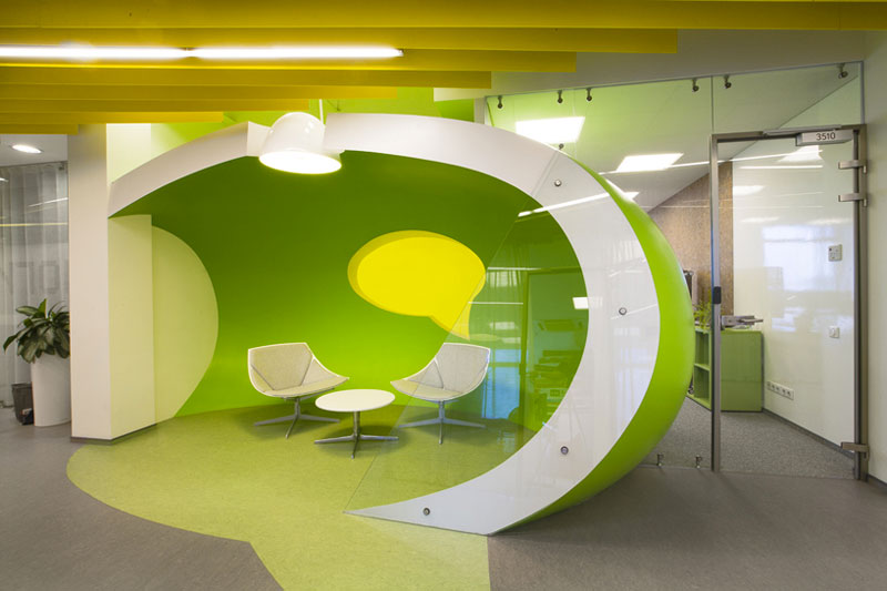 Lounge in Yandex St. Petersburg Offices
