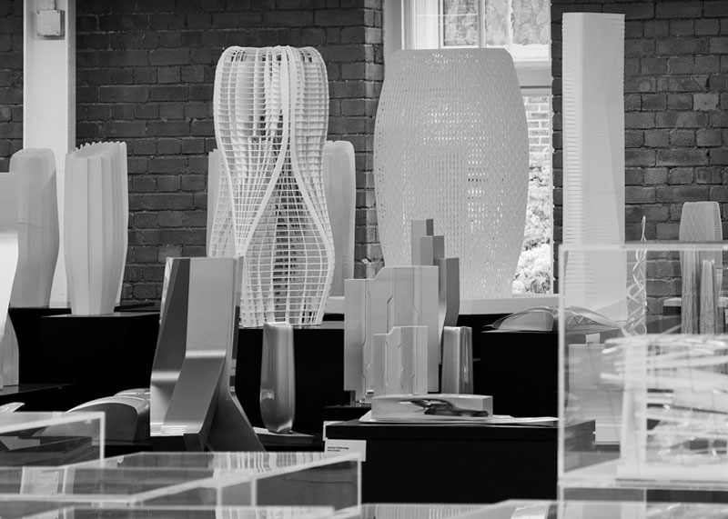 design pieces in Zaha Hadid Design Gallery