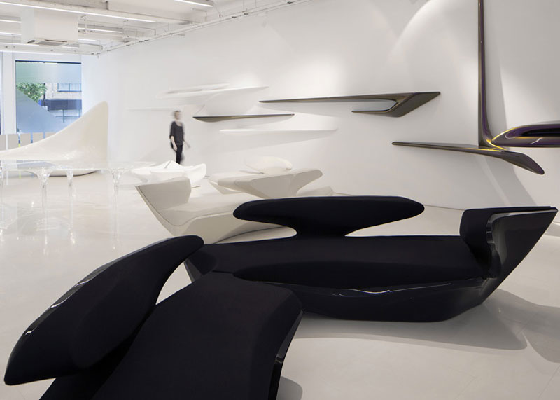 design piece in Zaha Hadid Design Gallery