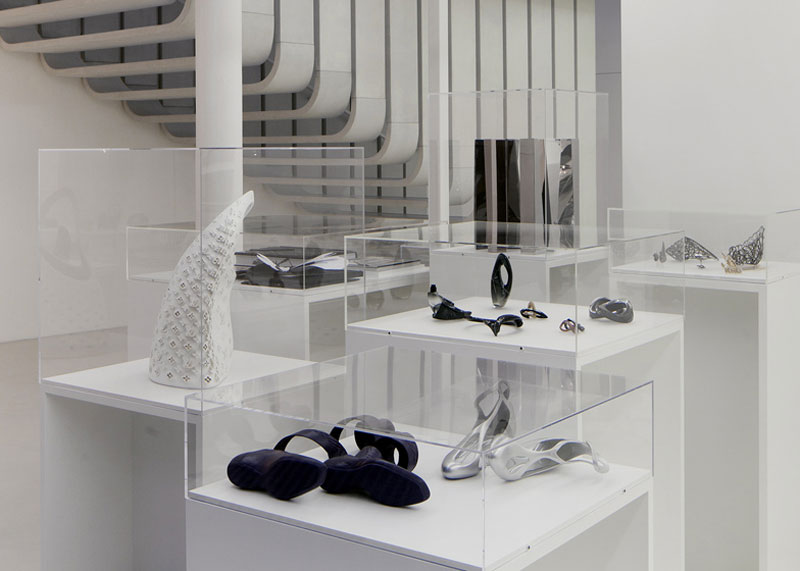 shoes in Zaha Hadid London Design Gallery