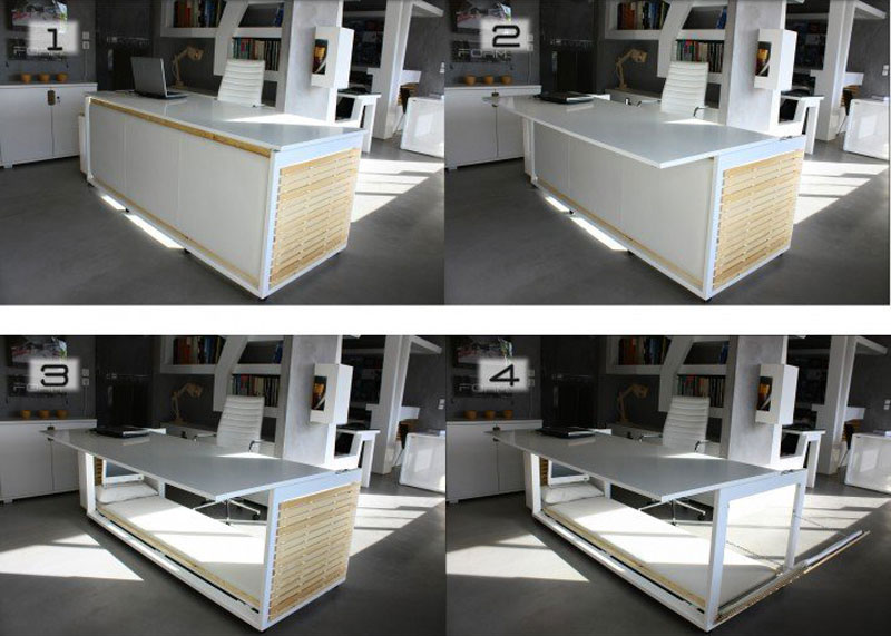 Work Desk Bed By Studio Nl Design Allowing Sleep At The