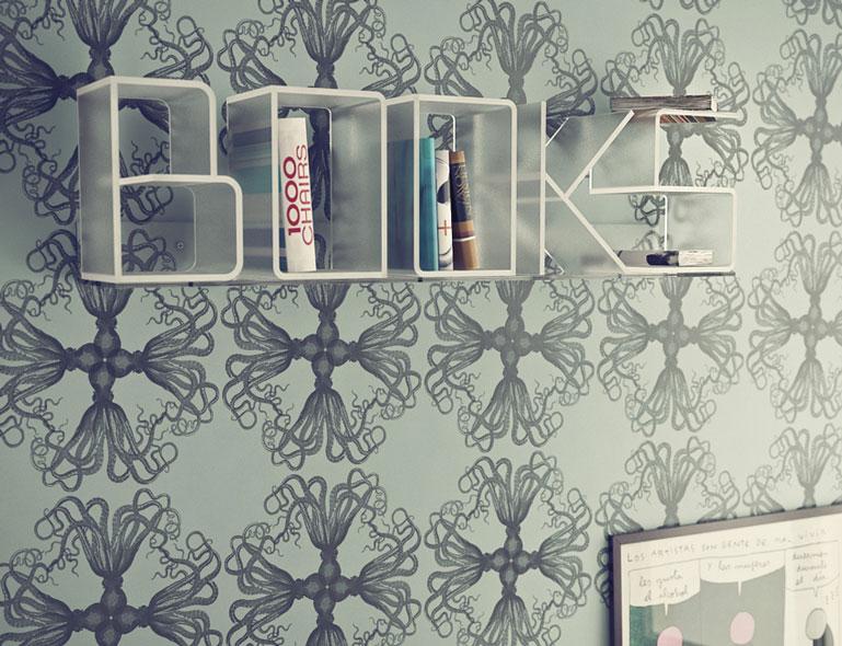 White ANITA Letter Wall Shelves by Quattria