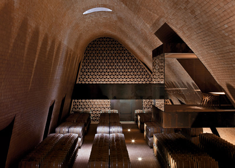 Barrique cellar at the Antinori Winery by Archea Associati