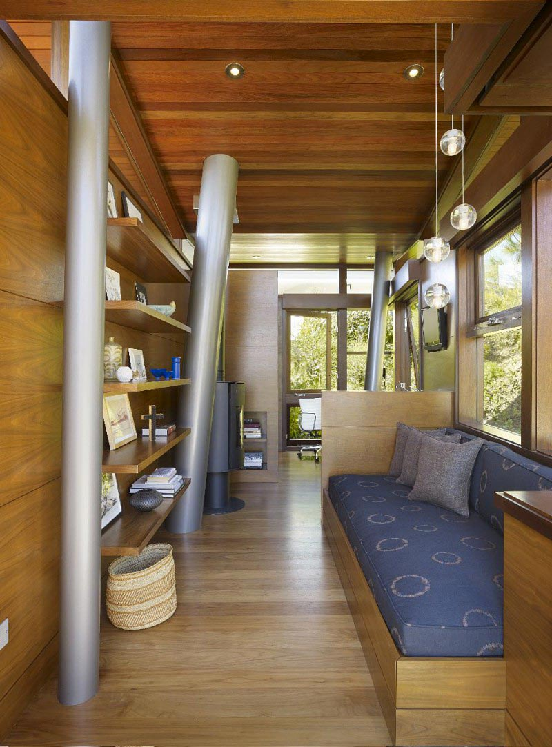 Steel Pylons and wooden floors at the The Banyan Treehouse by Rockefeller Partners Architects