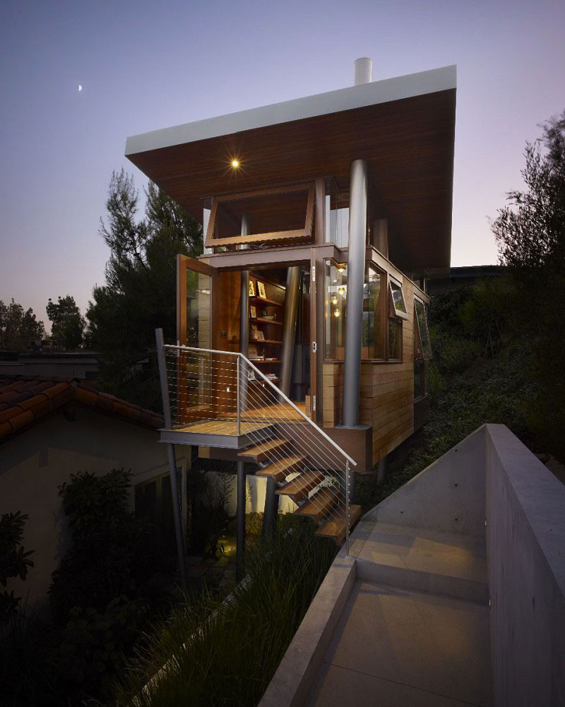The Banyan Treehouse by Rockefeller Partners Architects during the evening