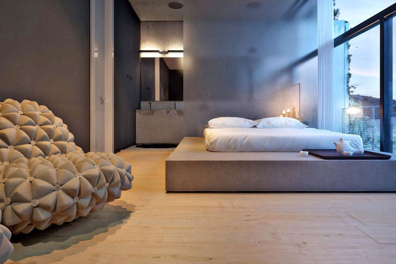 Bedroom interior design at the Chair House by Igor Sirotov