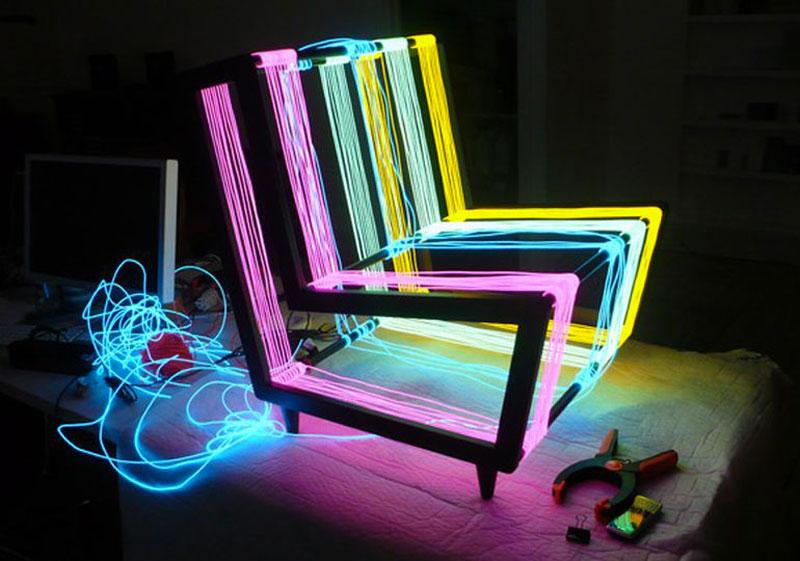 Illuminated Disco Chair by Kiwi & Pom