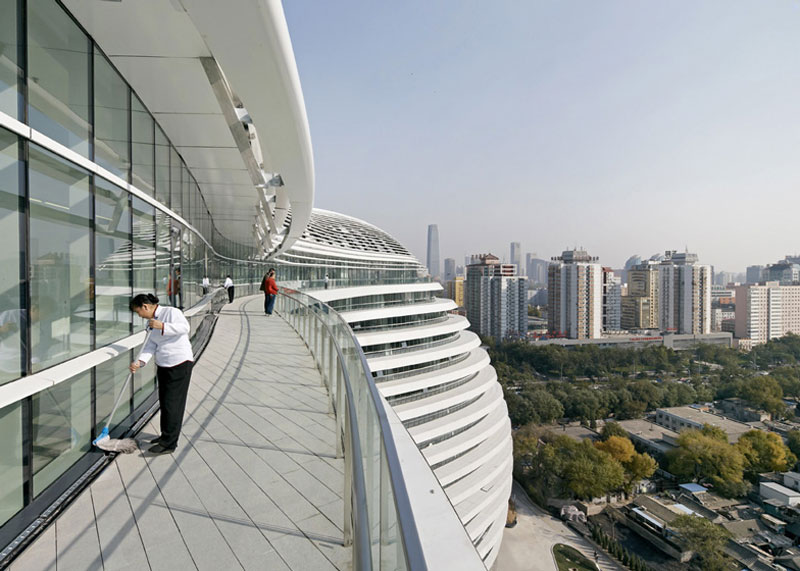 Beijing cityscape from the Galaxy SOHO Complex designed by Zaha Hadid