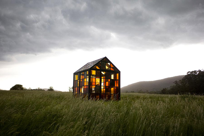 Hilltop Glass House Solarium by William Lamson on a cloudy day