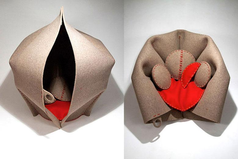 HUSH Cocoon Armchair by Freyja Sewell