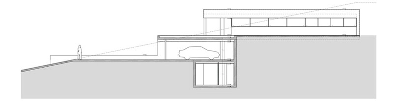Design plans of the House on the Cliff by Fran Silvestre Arquitectos