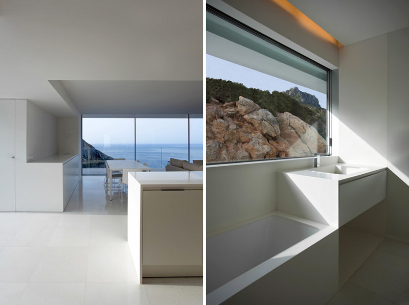 Interior design of the House on the Cliff by Fran Silvestre Arquitectos