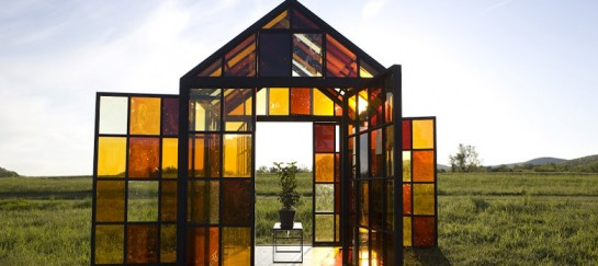 Glass House Solarium Made from Caramelized Sugar Panels