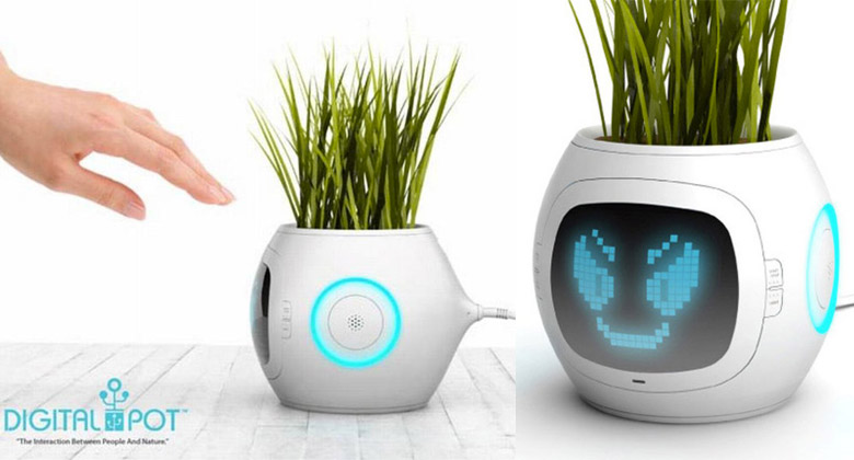 Jebiga Cover Pet Plant Digital Pot by Junyi Heo