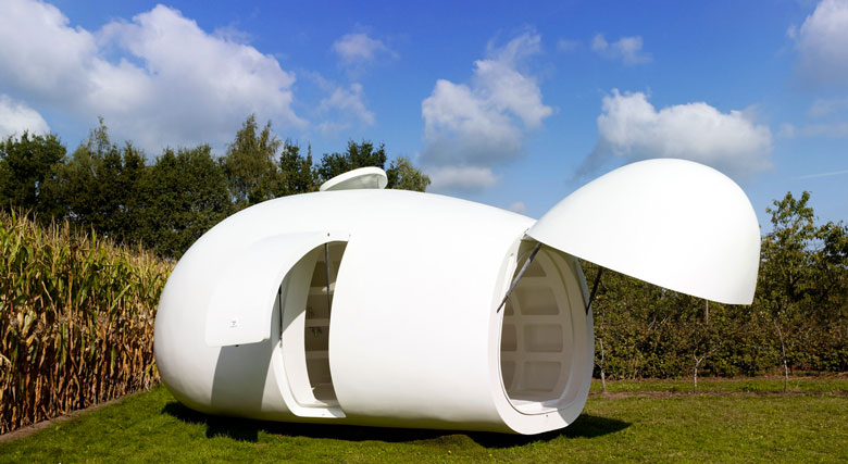 Jebiga blob VB3 Mobile Living Pod by dmvA Architects