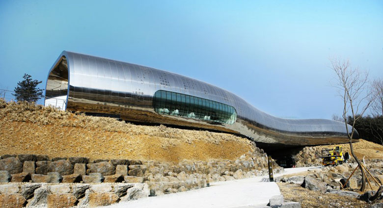 Jebiga Jeongok Museum South Korea Prehistory Museum by X-TU Architects