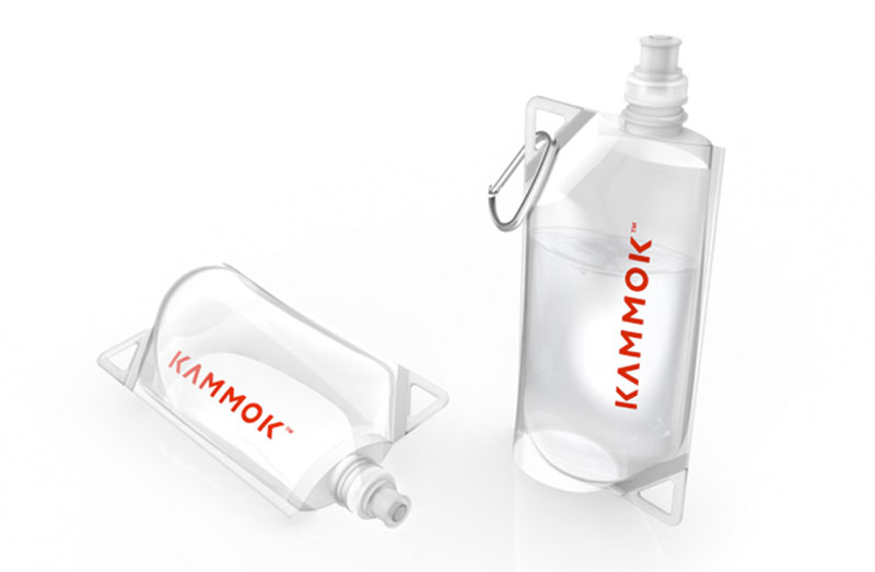 Flexible transparent water bottles of the Kammok Glider Rain Tarp and Weather Relief Shelter