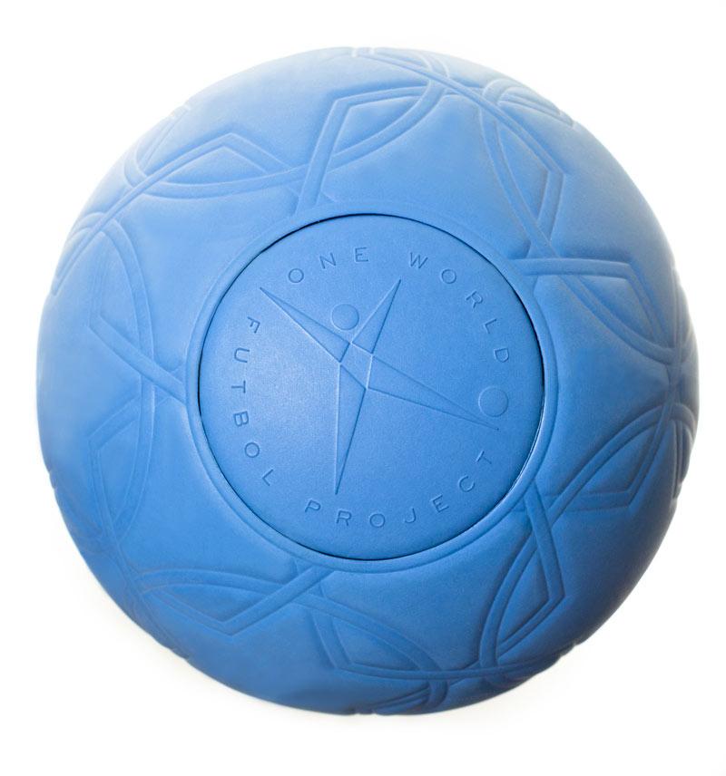 Blue One World Futbol Soccer ball