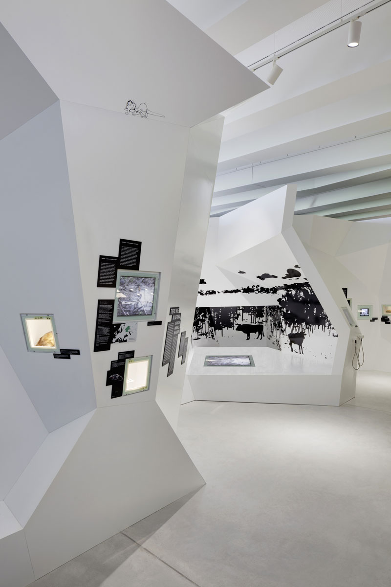 Interior design of the PALAON Research Experience Centre in Schoningen Germany by Holzer Kobler Architects