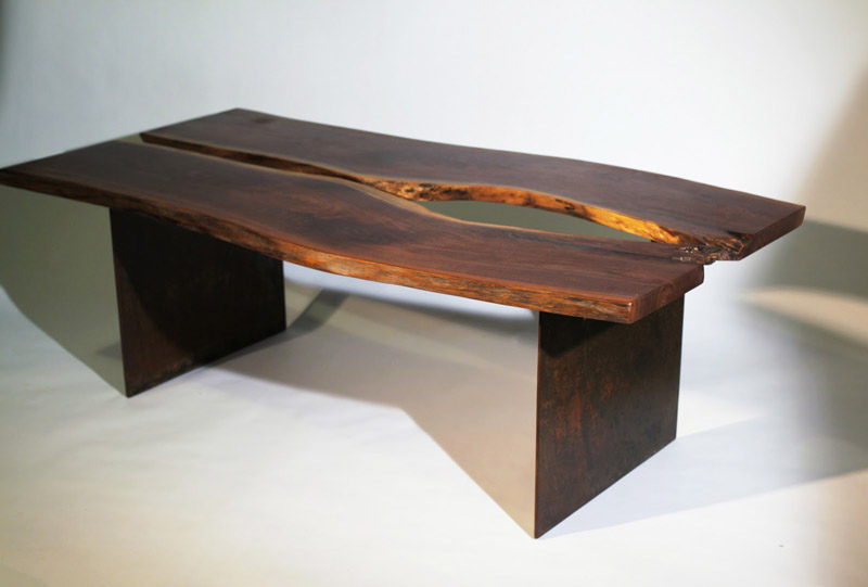 The Planter Walnut Table by Emily Wettstein