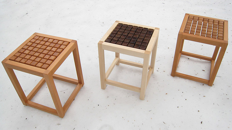 3 SQUAT Therapeutic Seating Wooden Chairs by Martin Rille