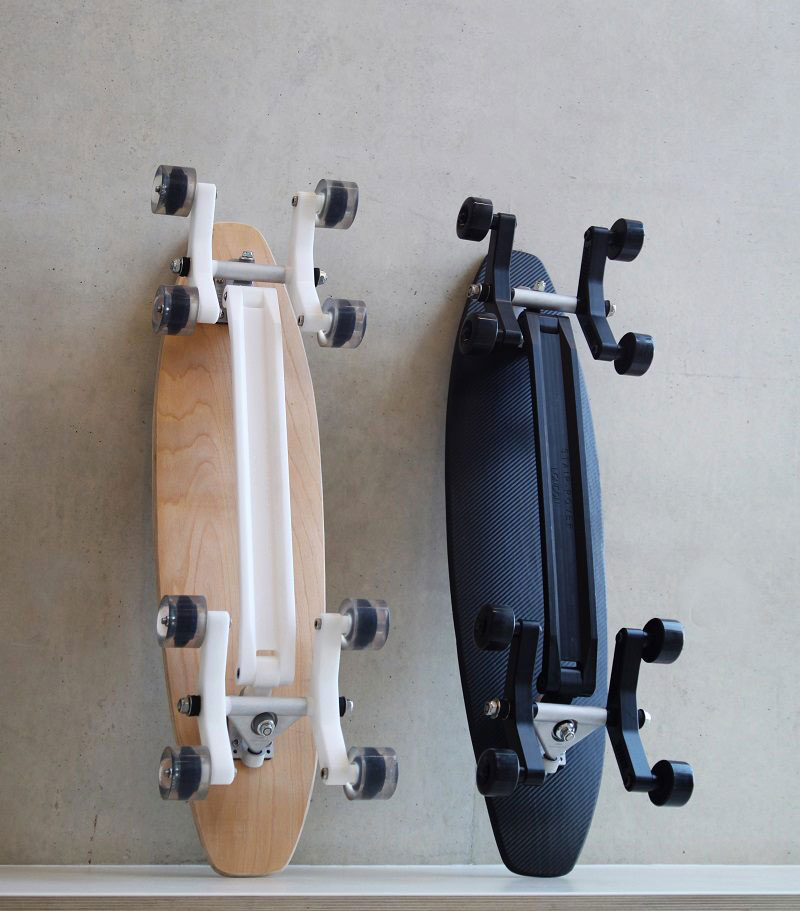 Wood and Black color Stair Rover Skateboards Longboards by Po-Chich Lai