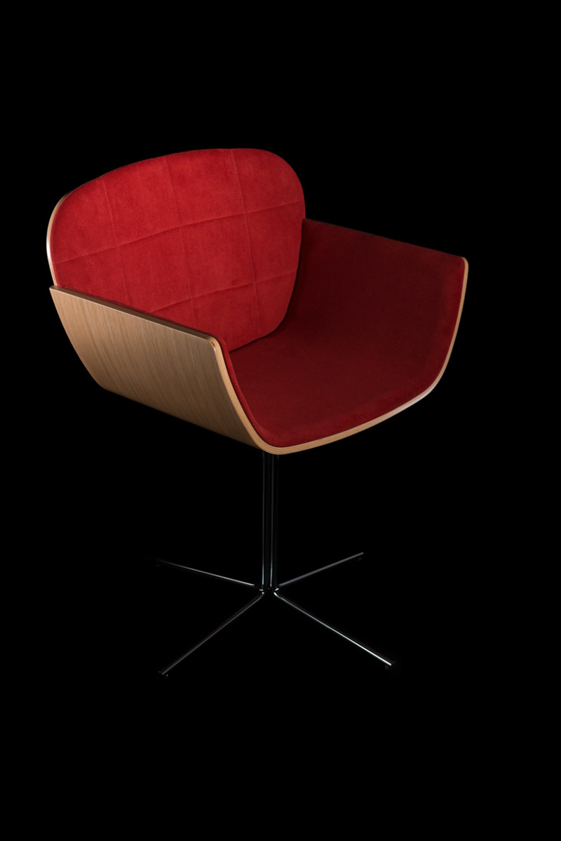 Red Suri Chair by Pedro Gomes