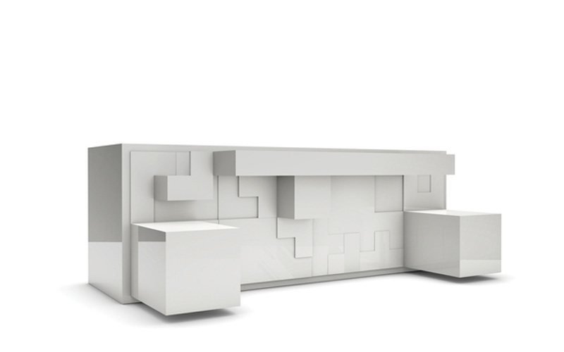 Tetris Pieces Sticking Out Of The White Tatris Furniture By Pedro Machado Amazing Ideas