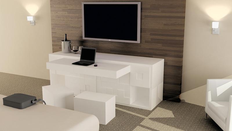 Tatris Furniture by Pedro Machado in a hotel room