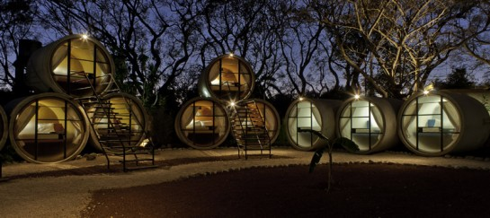 TuboHotel by T3arc – Sustainable Hotel Made of Recycled Concrete Tubes
