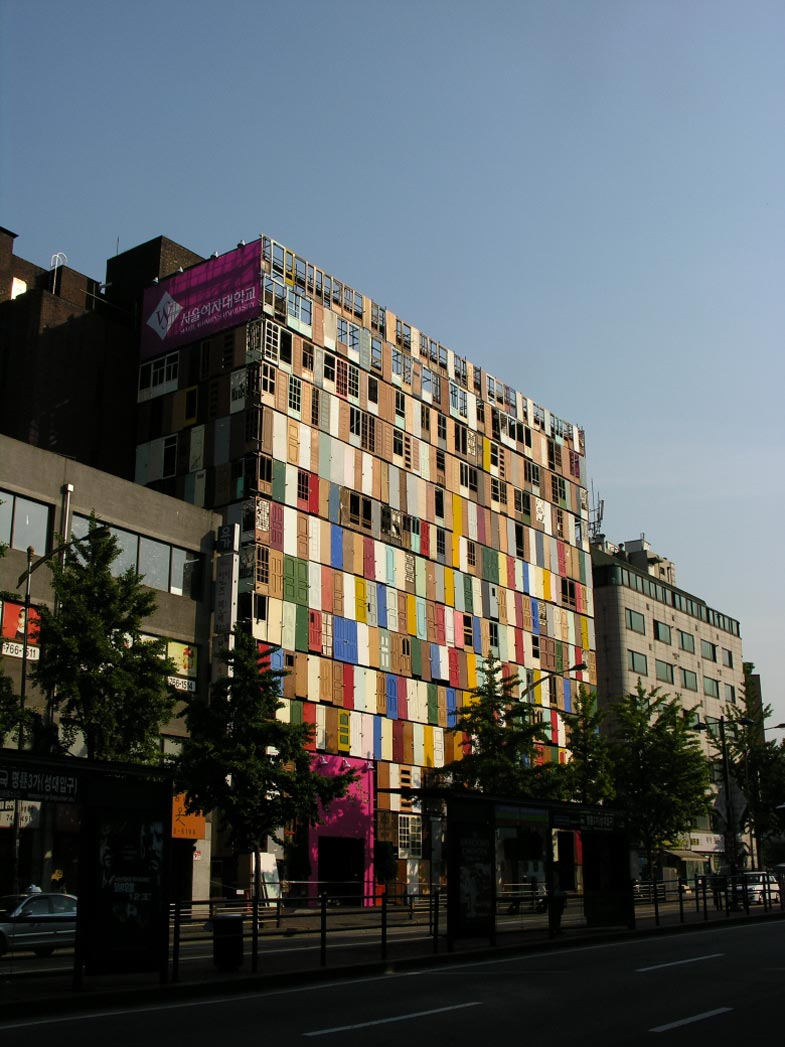 1000 Doors Building in Seoul by Choi Jeong Hwa