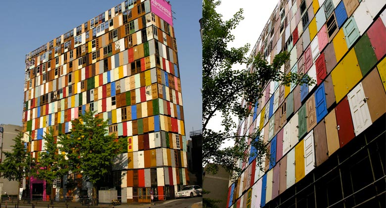 1000 Doors Building in Seoul by Choi Jeong Hwa Jebiga