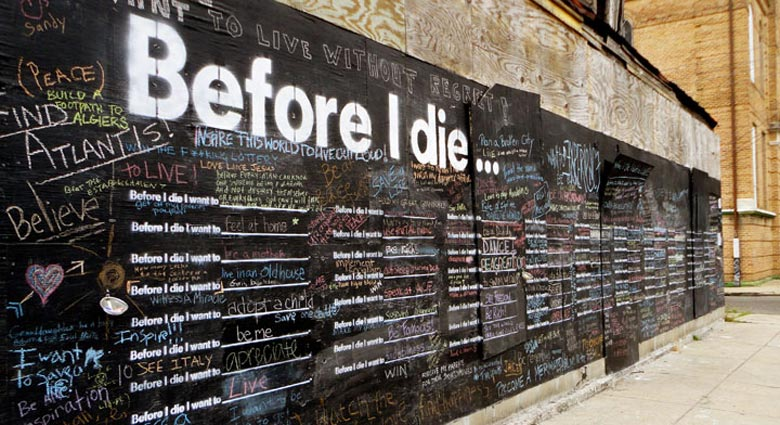 Before I Die by Candy Chang on Jebiga