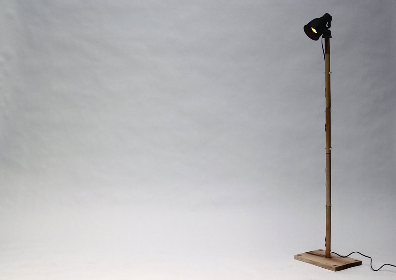 Lamp created using the BOXED Multi Functional Furniture by Tyrone Stoddart
