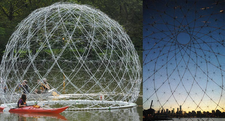 Floating Dome by SLO Architecture Bronx River in New York on Jebiga
