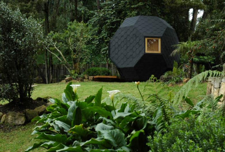 Exterior of the Habitable Polyhedron Garden Office by Manuel Villa