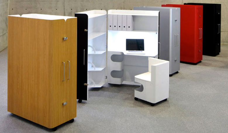 Work station of the Kenchikukagu Foldable Rooms from Atelier Opa Toshihiko Suzuki