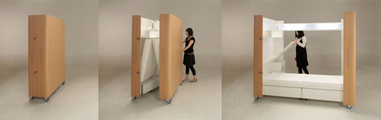 Kenchikukagu Foldable Rooms By Toshihiko Suzuki