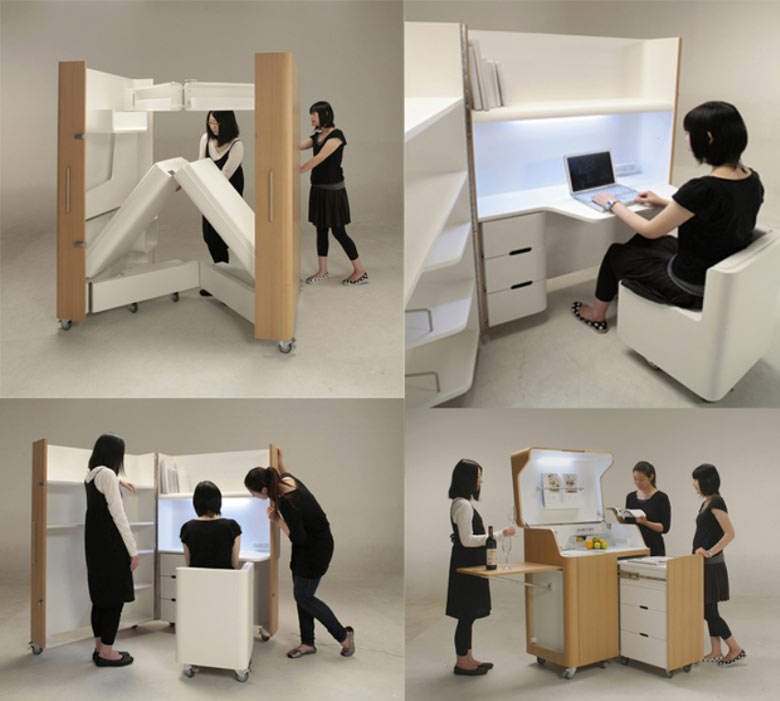 Kenchikukagu Foldable Rooms from Atelier Opa Toshihiko Suzuki