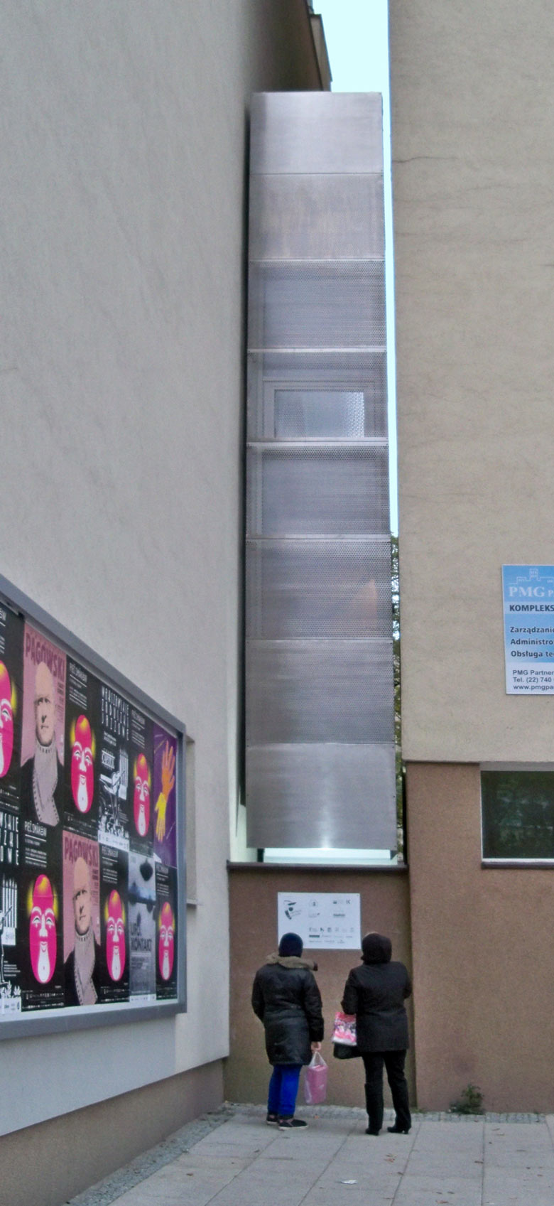 Exterior view of the Keret House the World's Narrowest Home in Warsaw by Jakub Szczesny