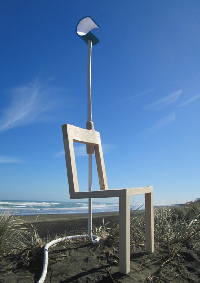 Lambent Chair by Glen Lewis Steele outdoor