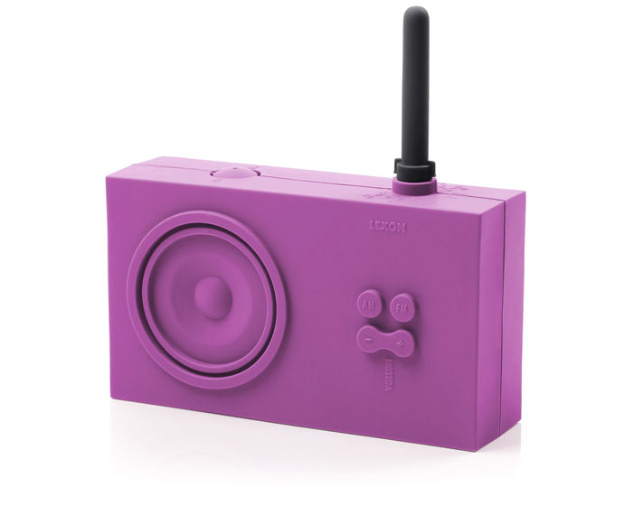 Purple Lexon Tykho Spash Shock Proof Radio