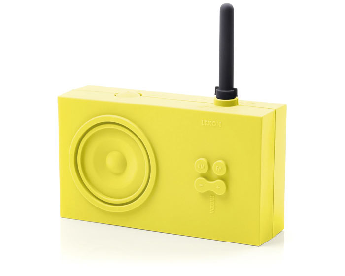 Yellow Lexon Tykho Spash Shock Proof Radio