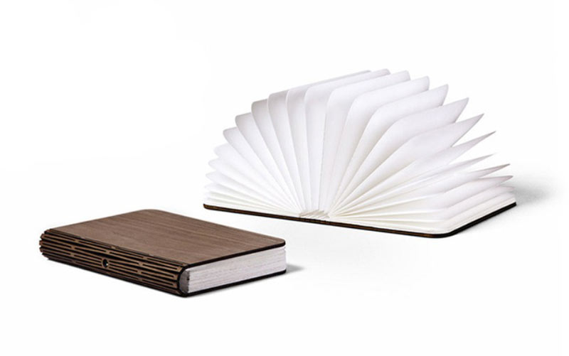 Lumio LED Book Lamp opened and un-opened