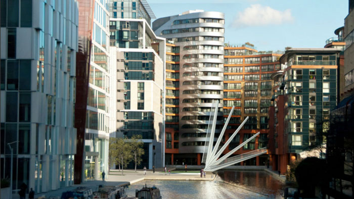 Merchant Square Footbridge in Paddington London by Knight Architects