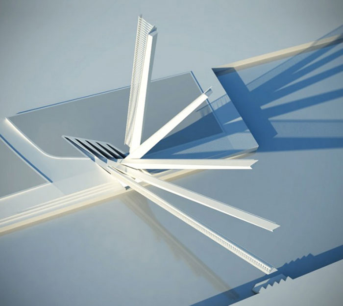 Model of the Merchant Square Footbridge in Paddington London by Knight Architects