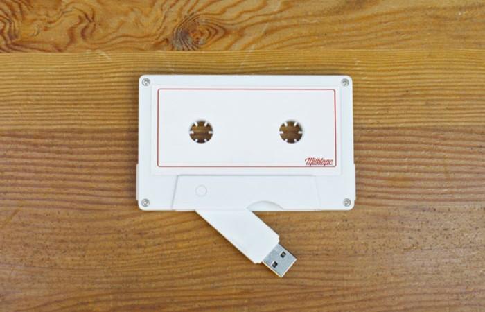 White Milktape Mixtape USB Cassette