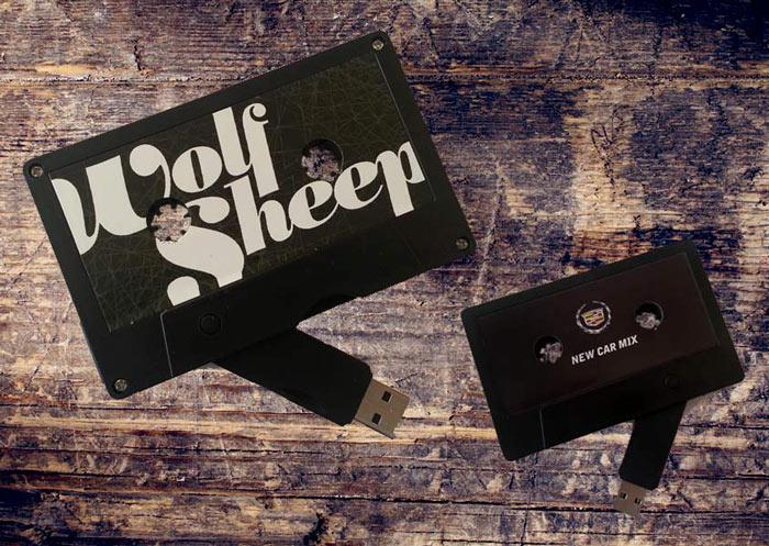 Black Milktape Mixtape USB Cassette USBtape