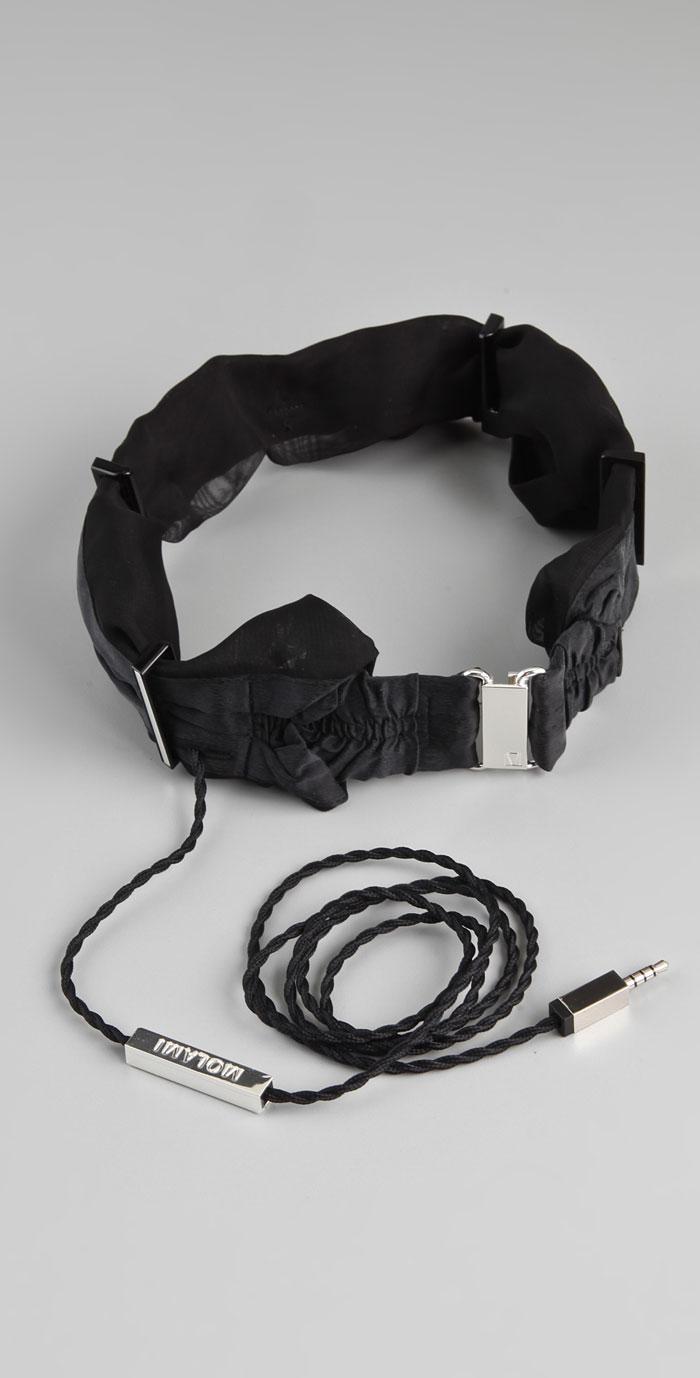 Black Molami Twine Headphones with wire