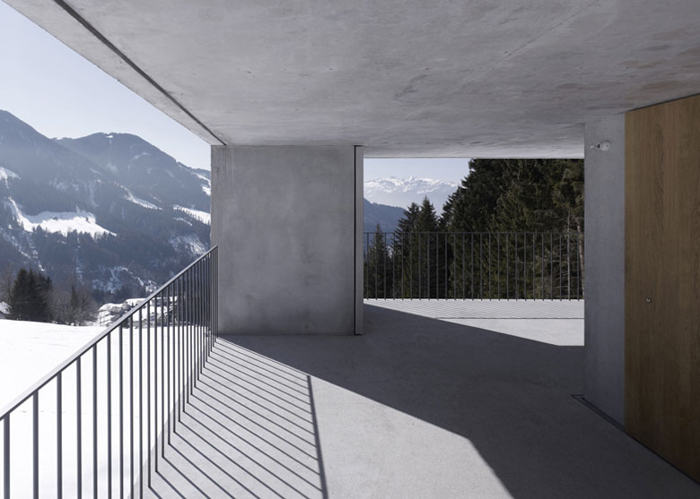 View from the patio at the Mountain Cabin by Marte.Marte in Voralberg Austria